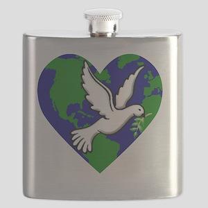 PeaceOnEarth_DoveOnEarth Flask