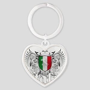 Italian Pride Heart Keychain