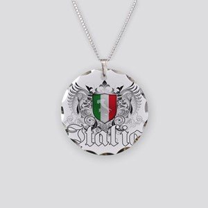 Italian Pride Necklace Circle Charm