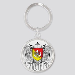 5-sicilia Round Keychain