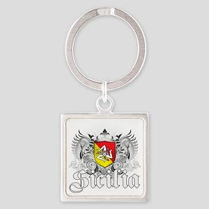 5-sicilia Square Keychain