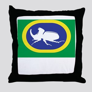 rhino beetle 8 Throw Pillow