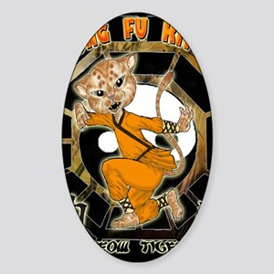 KUNG FU KITTY- Meow  Tiger Sticker (Oval)