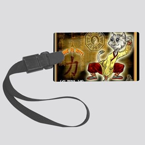 KUNG FU KITTY-CAT MONK TAO Large Luggage Tag
