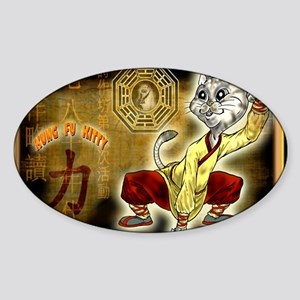 KUNG FU KITTY-CAT MONK TAO Sticker (Oval)