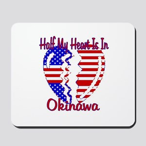 Half my heart is in Okinawa Mousepad