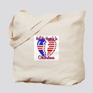 Half my heart is in Okinawa Tote Bag