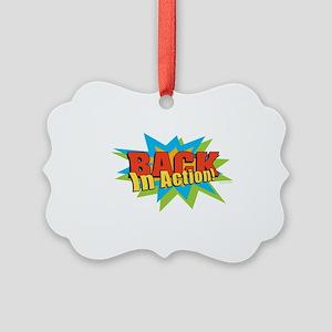BACKActionLG Picture Ornament