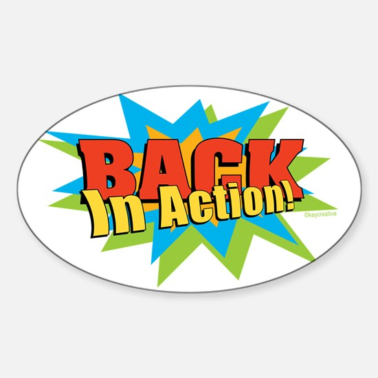 BACKActionLG Sticker (Oval)