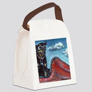 paintingcocodog Canvas Lunch Bag