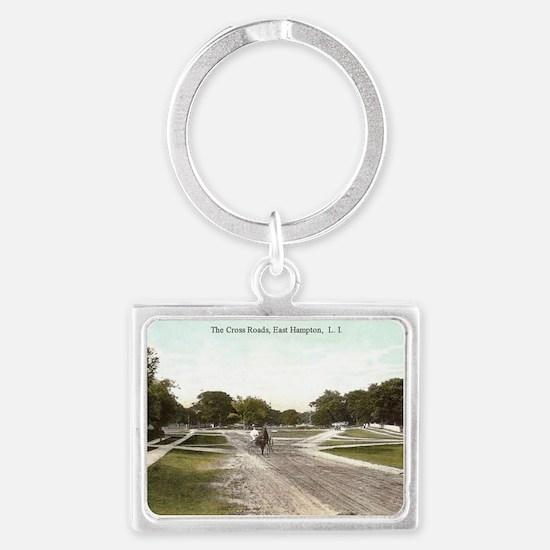 Cross Roads Landscape Keychain