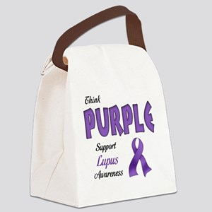 Think PURPLE Canvas Lunch Bag