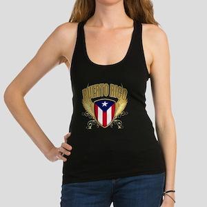 puerto rico c Racerback Tank Top