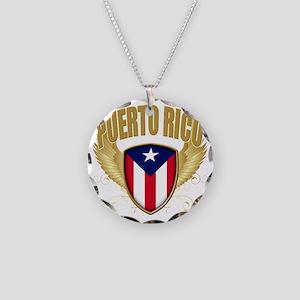 puerto rico c Necklace Circle Charm