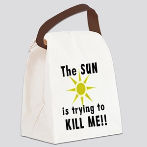 The Sun is Trying to Kill Me! Canvas Lunch Bag