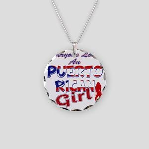 PR girl Necklace Circle Charm