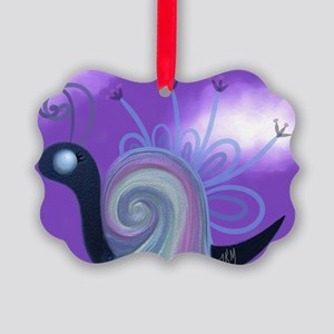 The Rainbow Snail Picture Ornament