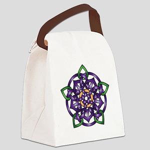 Sabines Purple Rose Canvas Lunch Bag