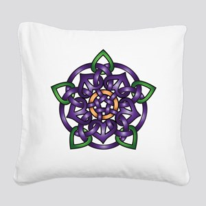 Sabines Purple Rose Square Canvas Pillow