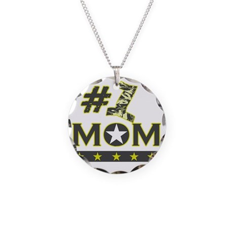 number one mom Necklace Circle Charm