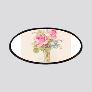 Pink roses in vase Patches