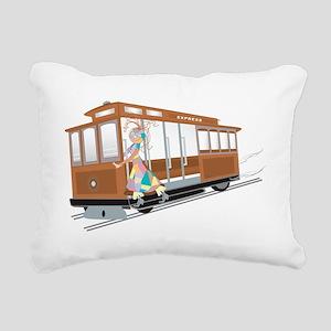 Express Cable Car Rectangular Canvas Pillow