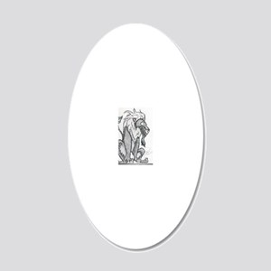 Lion 20x12 Oval Wall Decal