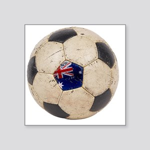 "Australia Football2 Square Sticker 3"" x 3"""