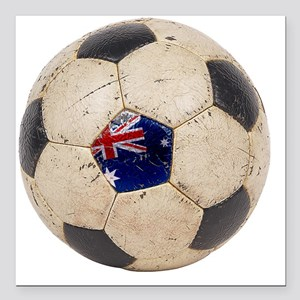 "Australia Football2 Square Car Magnet 3"" x 3"""