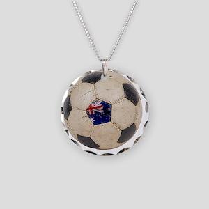 Australia Football2 Necklace Circle Charm