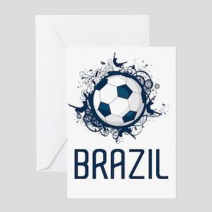 Brazil Football3 Greeting Card