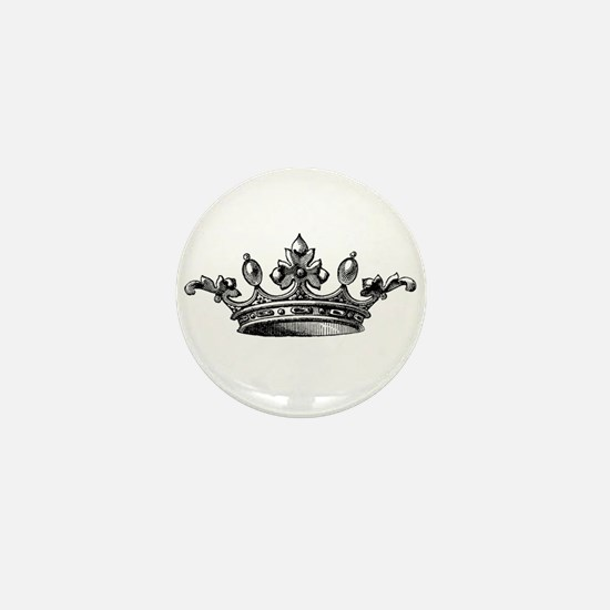 Vintage Crown Mini Button