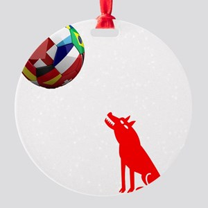 Howling At The Moon Round Ornament