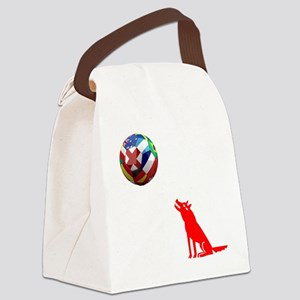 Howling At The Moon Canvas Lunch Bag