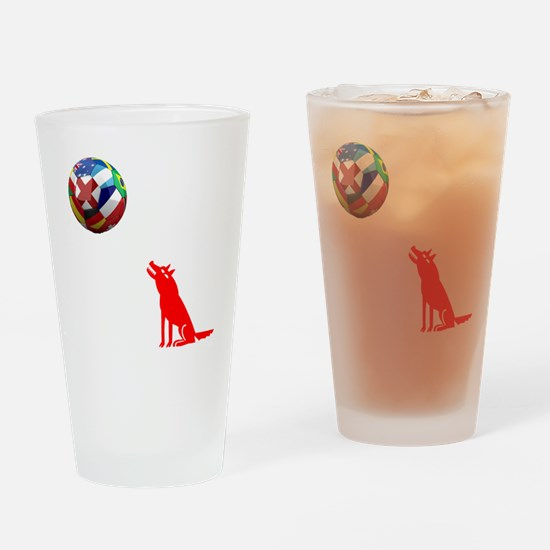 Howling At The Moon Drinking Glass