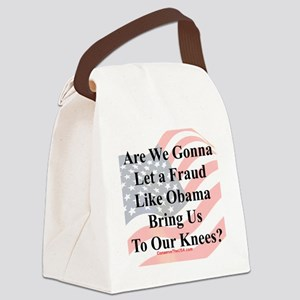 Obama Fraud 2p Canvas Lunch Bag