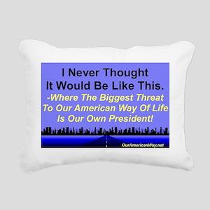 BiggestThreat2p Rectangular Canvas Pillow