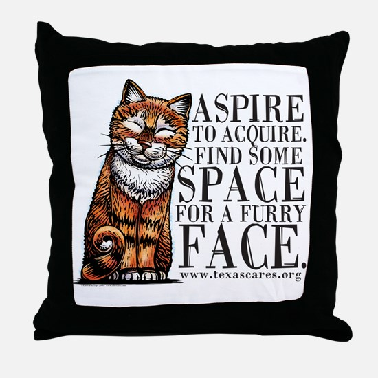 aspire_to_acquire_CLRLogo Throw Pillow