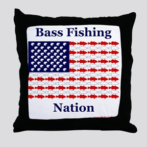 bass nation Throw Pillow