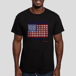 bass nation Men's Fitted T-Shirt (dark)