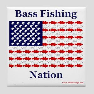 bass nation Tile Coaster