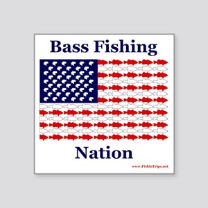 "bass nation Square Sticker 3"" x 3"""