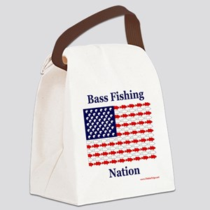 bass nation Canvas Lunch Bag