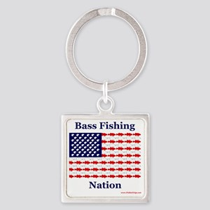 bass nation Square Keychain