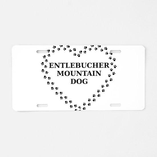 entlebucher mountain dog paw heart Aluminum Licens