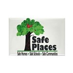Safe Places Rectangle Magnet (100 pack)