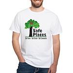 Safe Places White T-Shirt