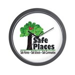 Safe Places Wall Clock