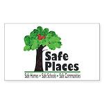 Safe Places Rectangle Sticker