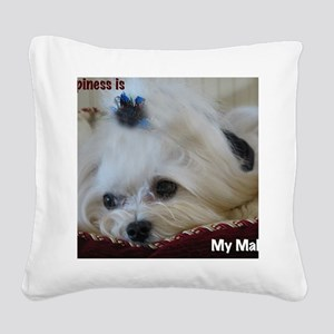 My Maltese Square Canvas Pillow